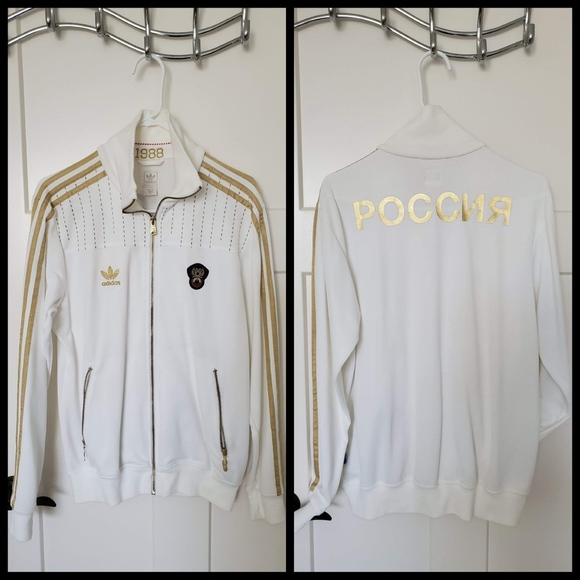 beauty good out x better Adidas men metallic Gold POCCNR Track Jacket